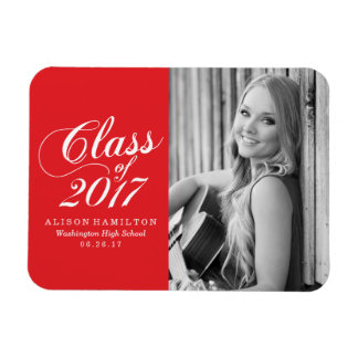Modern Red | Graduation Magnet