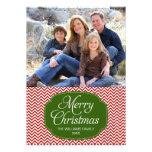 chevron christmas photo card, chevron holiday