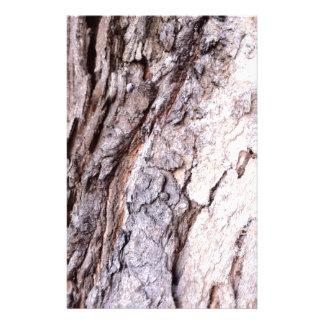 Modern Red Gumtree bark design Stationery