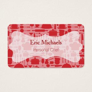 Modern Red Kitchen Theme Business Card