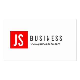 Modern Red Logo Political Scientist Business Card
