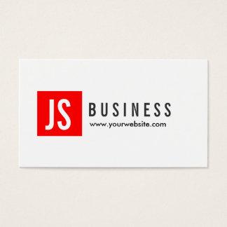 Modern Red Logo Video Editor Business Card