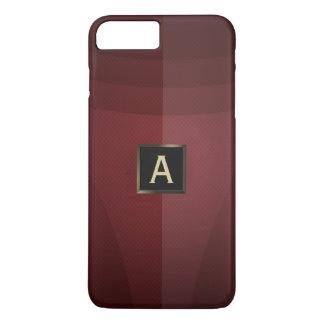 Modern Red Metal Monogram iPhone 7 Plus Case