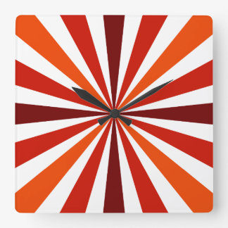 Modern Red/Orange Stripe Clock