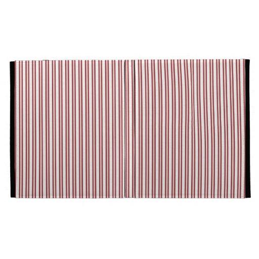 Modern Red Pin Striped Pattern iPad Folio Cover