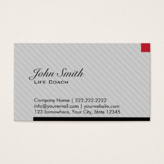 Modern Red Pixel Life Coach Business Card