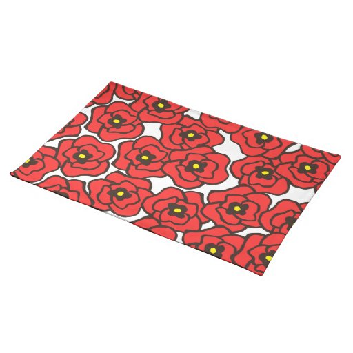 Modern Red Poppies Cloth Placemat Zazzle : modernredpoppiesclothplacemat r8a1526f2430b4096a136834a5347d3822cfk18byvr512 from www.zazzle.com size 512 x 512 jpeg 44kB