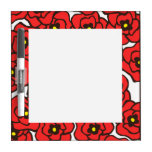 Modern Red Poppies Small Dry Erase Board