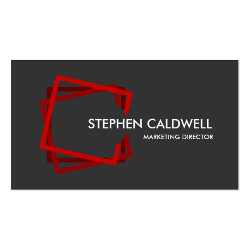 Modern Red Professional Business Cards