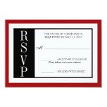 Modern Red Rose RSVP 3.5x5 Paper Invitation Card
