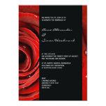 Modern Red Rose Wedding Invitation 5 by 7