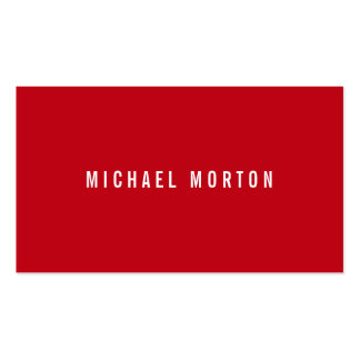 Modern red simple generic professional Double-Sided standard business cards (Pack of 100)