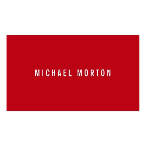 Modern red simple generic professional business card