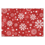 Modern Red Snowflake Christmas Tissue Paper