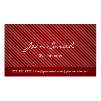 Modern Red Stripes Golf Business Card