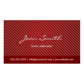 Modern Red Swim Instructor Business Card