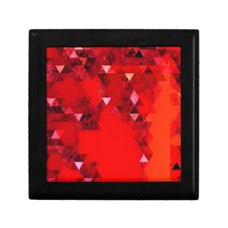 Modern Red Triangles Graphic Abstract Gift Box