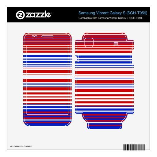 Modern red white and blue stripes samsung vibrant skins