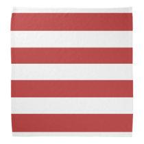 Modern Red White Stripes Pattern Bandana