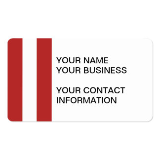 Modern Red White Stripes Pattern Business Card