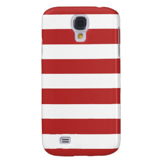 Modern Red White Stripes Pattern Galaxy S4 Cover