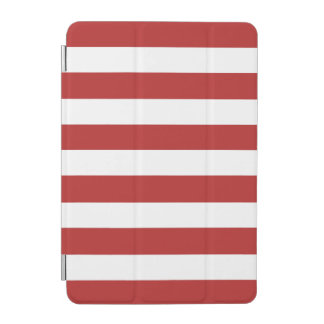 Modern Red White Stripes PatternModern red and whi iPad Mini Cover