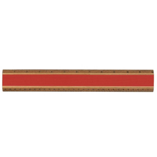 Modern Red White Stripes PatternModern red and whi Maple Ruler