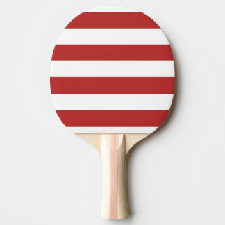Modern Red White Stripes PatternModern red and whi Ping Pong Paddle