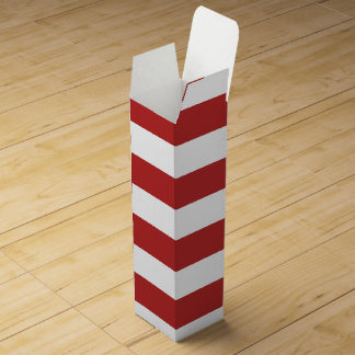 Modern Red White Stripes PatternModern red and whi Wine Gift Box