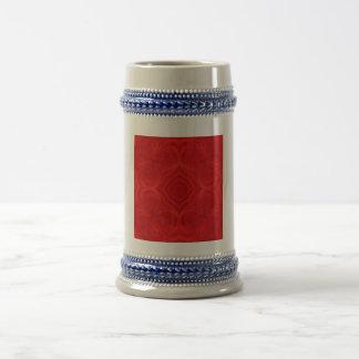 Modern red wood pattern mug
