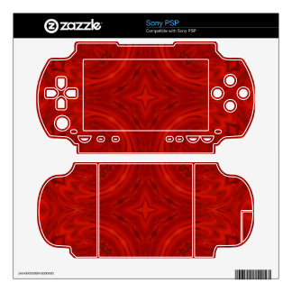 Modern Red wood Pattern PSP Decal