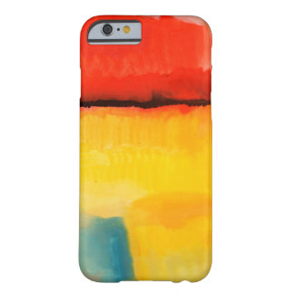 Modern Red Yellow Abstract Painting iPhone 6 Case