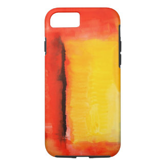 Modern Red Yellow Abstract Painting iPhone 7 Case