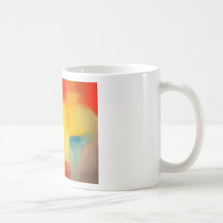 Modern Red Yellow Abstract Painting Mug