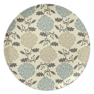 Modern Regal Rose Floral Print Decorative Plate