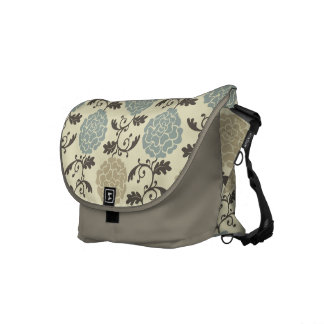 Modern Regal Rose Print Messenger Bag
