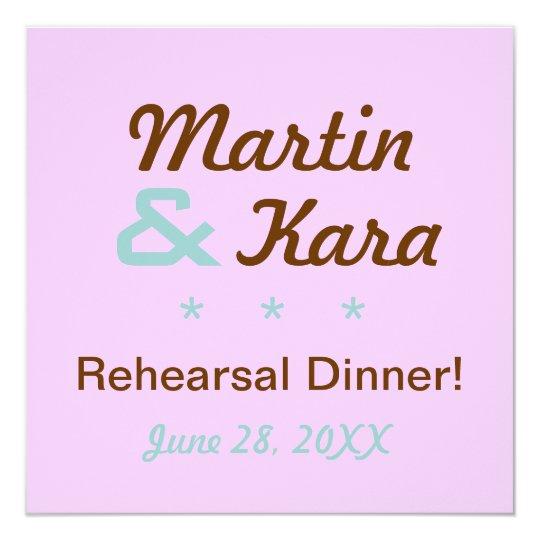 Modern Rehearsal Dinner Custom Invitation (Square)