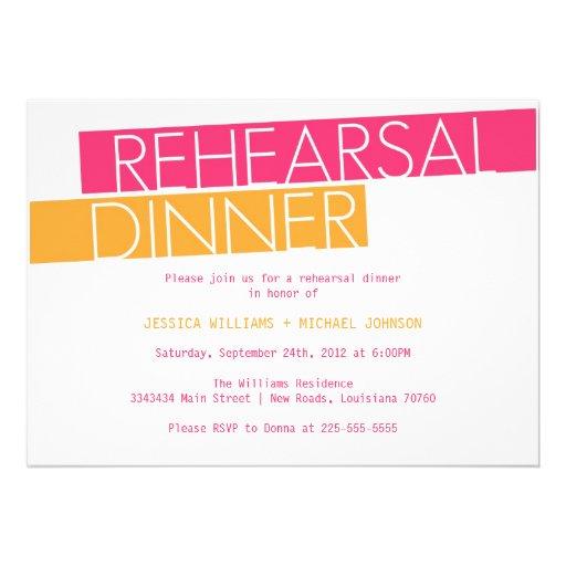 Modern Rehearsal Dinner Invitation