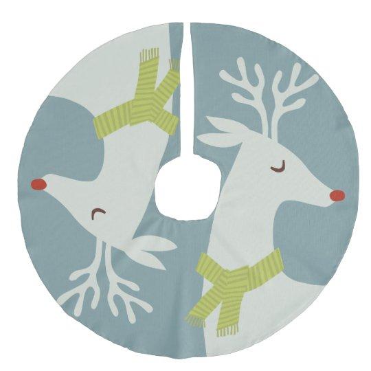 Modern Reindeer Christmas Tree Skirt | Zazzle.com