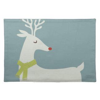 Modern Reindeer Holiday Placemat