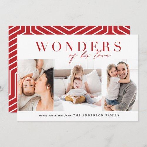 Modern religious multi photo christmas holiday card