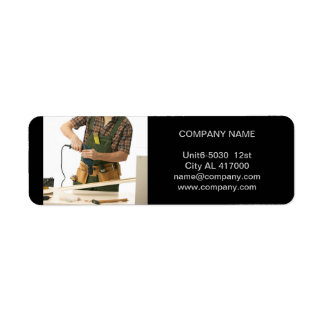 Modern Renovation Handyman Carpentry carpenter Label