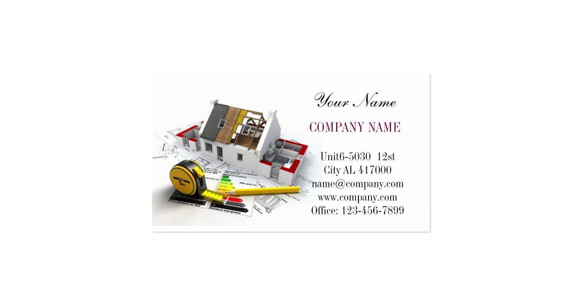 Carpentry Business Cards Designs