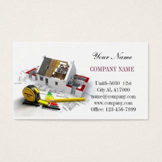Modern Renovation Handyman Carpentry Construction Business Card
