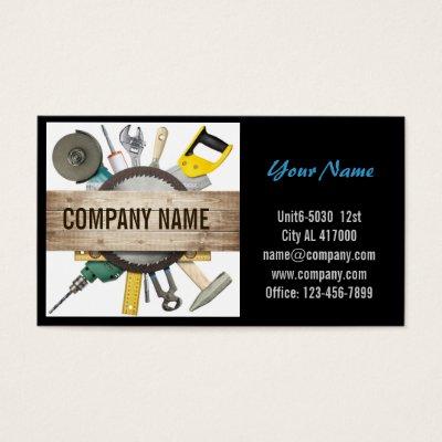 Construction Handyman Plumber Minimalist Business Card Zazzle Com