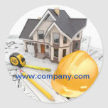 Modern Renovation Handyman Carpentry Construction Classic Round Sticker