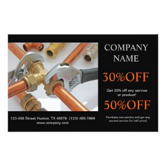 "Modern Renovation Handyman Carpentry Construction 5.5"" X 8.5"" Flyer"
