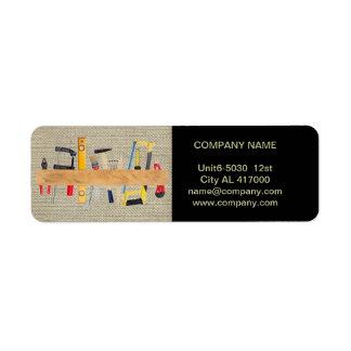 Modern Renovation Handyman Carpentry Construction Label