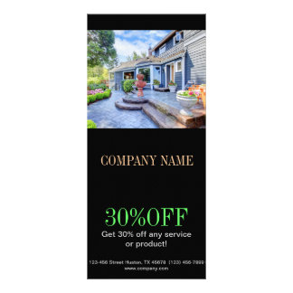 Modern Renovation Handyman Carpentry Construction Personalized Rack Card