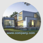Modern Renovation Handyman Construction architect Classic Round Sticker